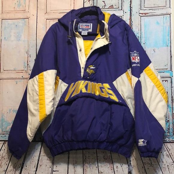 reputable site 6017b 0bf0f Minnesota vikings 90's starter 1/2 zip pullover XL